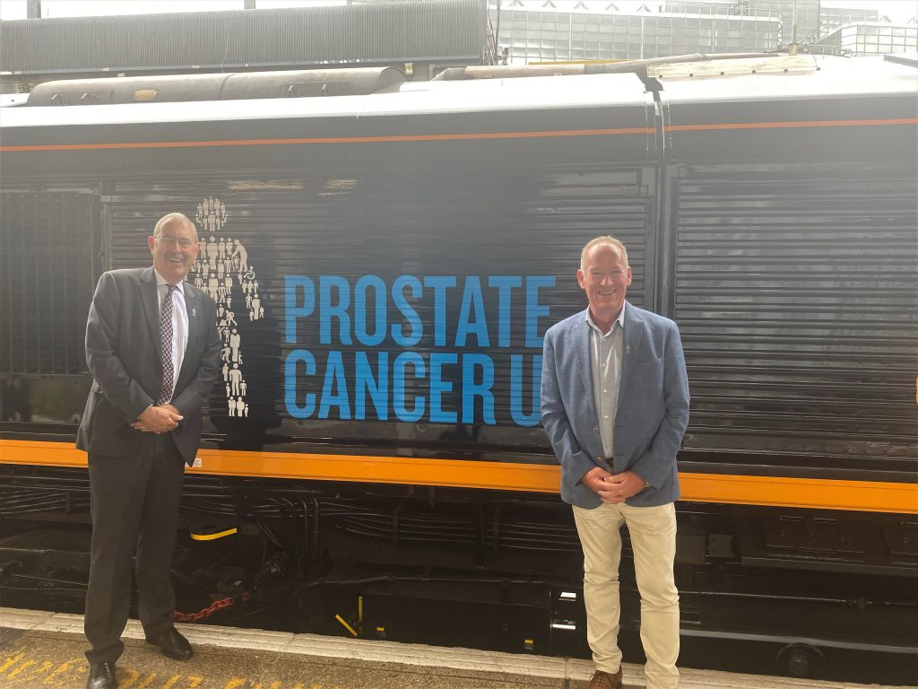 GBRf Prostate Cancer at MIRP L to R David Cross and David Stirling